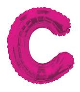 "14"" Airfill with Valve Only Letter C Hot Pink Balloon"