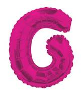 "14"" Airfill with Valve Only Letter G Hot Pink Balloon"