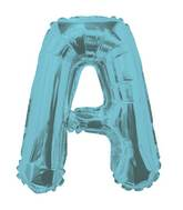 "14"" Airfill with Valve Only Letter A Light Blue Balloon"