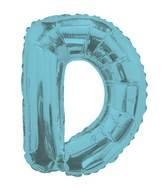 "14"" Airfill with Valve Only Letter D Light Blue Balloon"