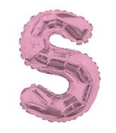 "14"" Airfill with Valve Only Letter S Pink Balloon"