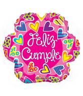 """18"""" Feliz Cumple Flor Gellibean Balloon"""