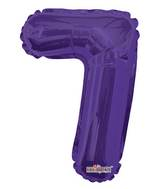 "14"" Airfill with Valve Only Number 7 Purple Balloon"