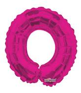 "14"" Airfill with Valve Only Number 0 Magenta Balloon"