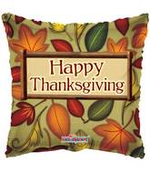 """18"""" Happy Thanksgiving Fall Leaves Square Balloon"""