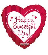 """18"""" Sweetest Day Hearts & Lines Balloon"""