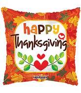 "18"" Orange Thanksgiving Balloon"