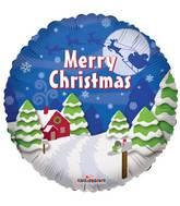 """18"""" Christmas Santa's Sleigh Balloon"""