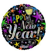 "18"" New Year Celebration Hol Balloon"