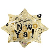 "28"" Balloon New Year Explosion Shape"