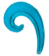 "14"" Aifill Only Airfill Only Kurly Wave Turquoise"