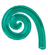 "14"" Airfill Only Kurly Spiral Turquoise Green Balloon"