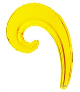 "14"" Airfill Only Kurly Wave Yellow Balloon"