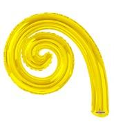 "14"" Airfill Onl Kurly Spiral Yellow Balloon GELLIBEAN"