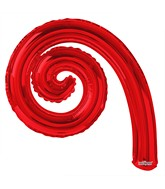 "14"" Airfill Only Kurly Spiral Red Balloon GELLIBEAN"