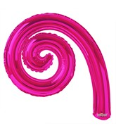 "14"" Airfill Only Kurly Spiral Hot Pink Balloon"
