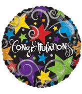 """18"""" Congratulations Black Balloon"""