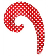 "14"" Airfill Only Kurly Wave Red Dots Balloon"