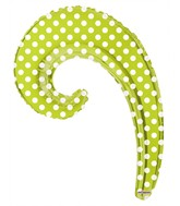 "14"" Airfill Only Kurly Wave Kiwi Dots Balloon"