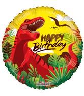 """18"""" Happy Birthday Dinosaur Balloon"""