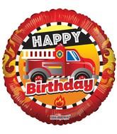 """18"""" Birthday Fire Truck Balloon"""