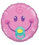 "9"" Airfill Only Smiley Girl Gellibean Balloon"