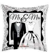 """18"""" Mr & Mrs Balloon"""