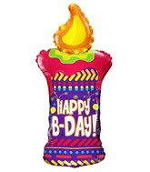 """36"""" Happy B-Day Candle Shape Balloon"""