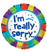 """18"""" I'm Really Sorry Patchwork Balloon"""