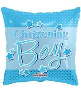 "18"" Christening Boy Dots Balloon"