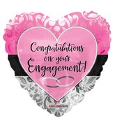 """18"""" Engagement Pink Heart Balloon"""