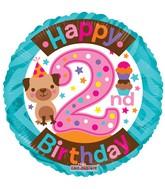 "18"" 2nd Birthday Girl Balloon"