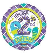 "18"" 2nd Birthday Boy Balloon"
