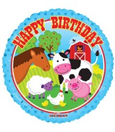 "18"" Happy Birthday Farm Animals Balloon"
