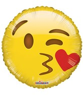 "18"" Smiley Kiss Balloon Emoji"