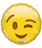 "18"" Smiley Wink Balloon Emoji"