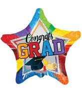 "36"" Grad Multicolor Star Balloon"