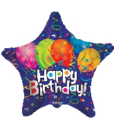 "9"" Airfill Only Star Birthday Festive Balloon"