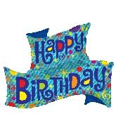 "36"" Shape Birthday Banner Shape Balloon"