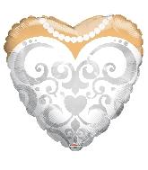"18"" Heart Bride's Dress Balloon"