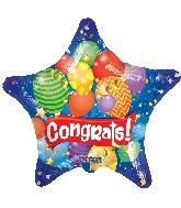 """18"""" Star Congrats Festive Gellibean Balloon"""