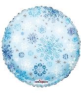 """18"""" Round Snowflakes Pattern Cv Balloon"""