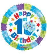 "18"" 1st Birthday Boy Balloon"