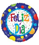 "18"" Feliz Dia Dots Balloon"