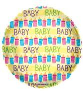 """18"""" Baby Bottles Yellow Balloon"""