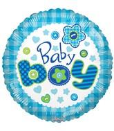 """18"""" Baby Boy Quilt Balloon"""