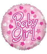 "18"" Baby Girl Patterns Balloon"