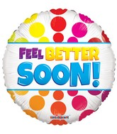 "18"" Feel Better Soon Dots Balloon"