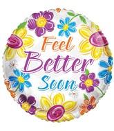 """18"""" Feel Better Soon Flowers Balloon"""