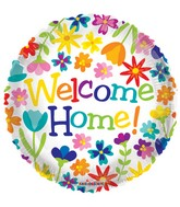 "18"" Welcome Home Spring Flowers Balloon"